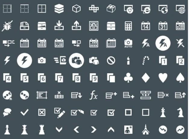 Modern IU icons