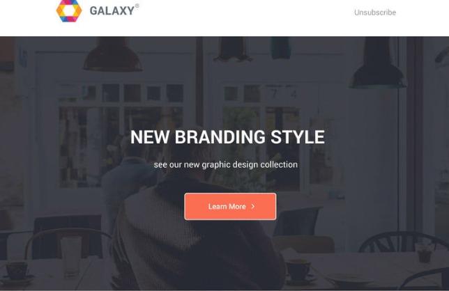 galaxy free newsletter templatet