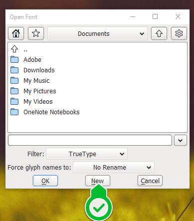 ФонтФорге - креирање новог фонта