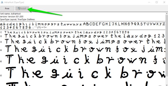 Pregled i instalacija fonta - FontForge