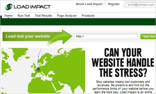 Load Impact: Website load / stress test