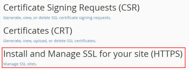 install and manage ssl