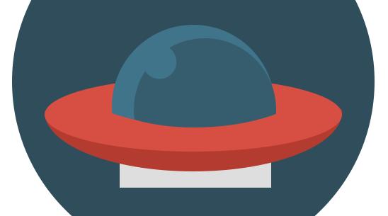 Флат иконица НЛО - Адриахост блог слика 12