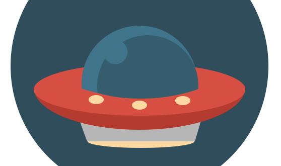 Флат иконица НЛО - Адриахост блог слика 15