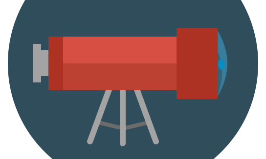Flat ikonica - Teleskop na tronoscu slika 7