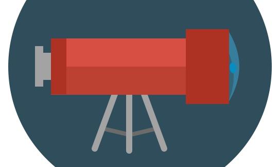 Флат иконица - Телескоп на троносцу слика 7