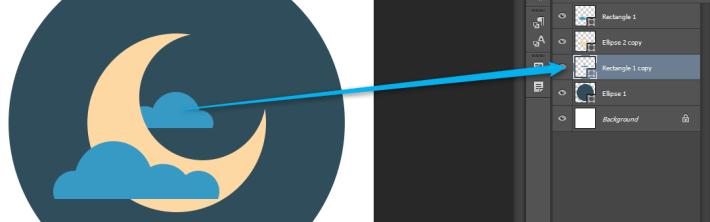 Flat ikonica mesec i zvezde slika 6