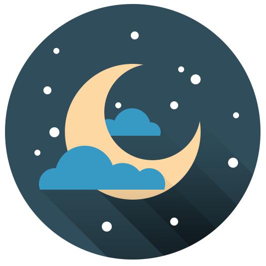 Flat ikonica mesec i zvezde slika 7 finalna