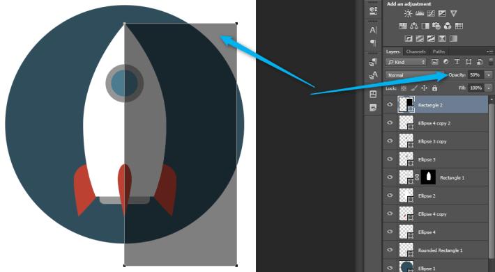 Izrada Flat ikonica u Photoshopu slika 28