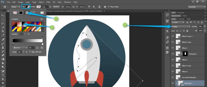 Izrada Flat ikonica u Photoshopu slika 37