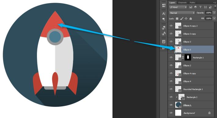 Izrada Flat ikonica u Photoshopu slika 38