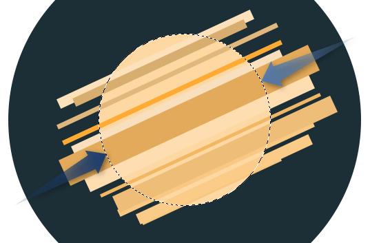 Photoshop - Flat ikonica rakete slika 7