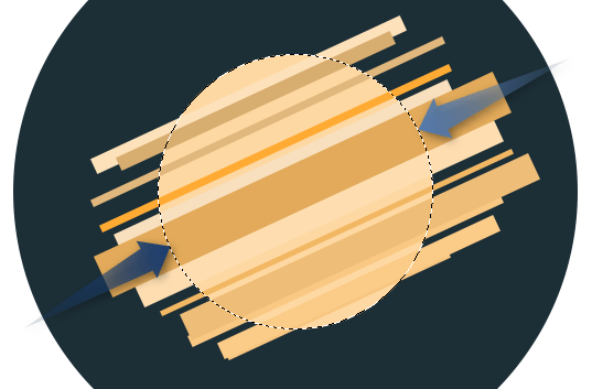 Пхотосхоп - Флат иконица ракете слика 7