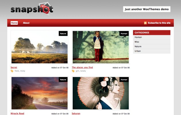 Snapshop WordPress theme