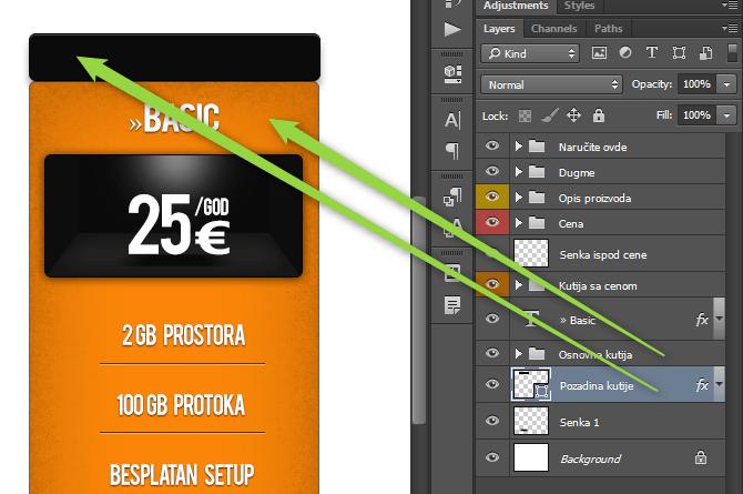 Kako napraviti cenovnik u Photoshop slika 58