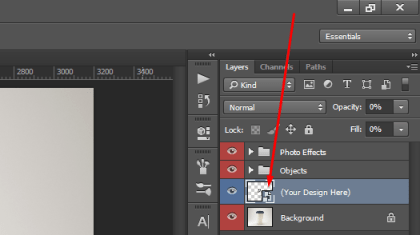 mockup layer photoshop