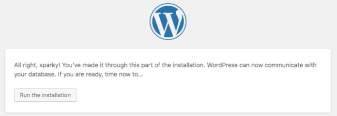 install wp