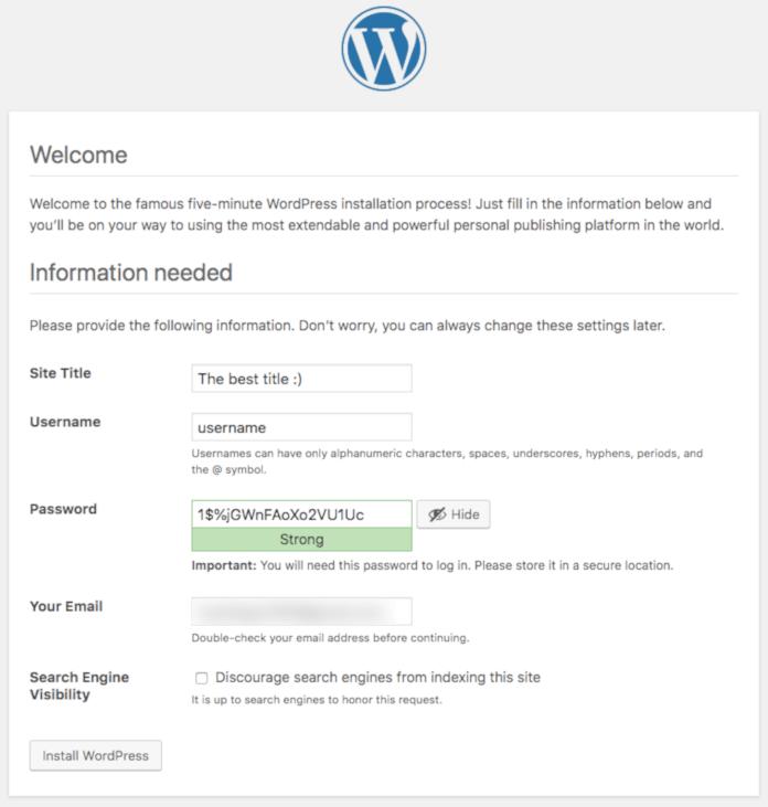 wordpress wellcome