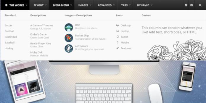 wordpress menu theme