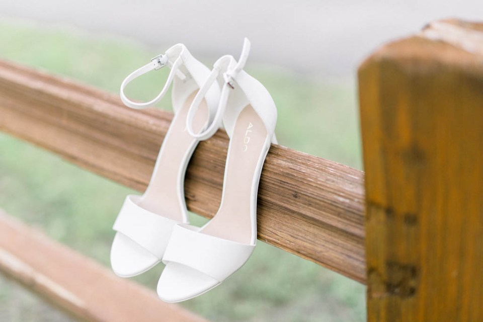 Wedding by Adria Lea Photography, open toe wedding shoes