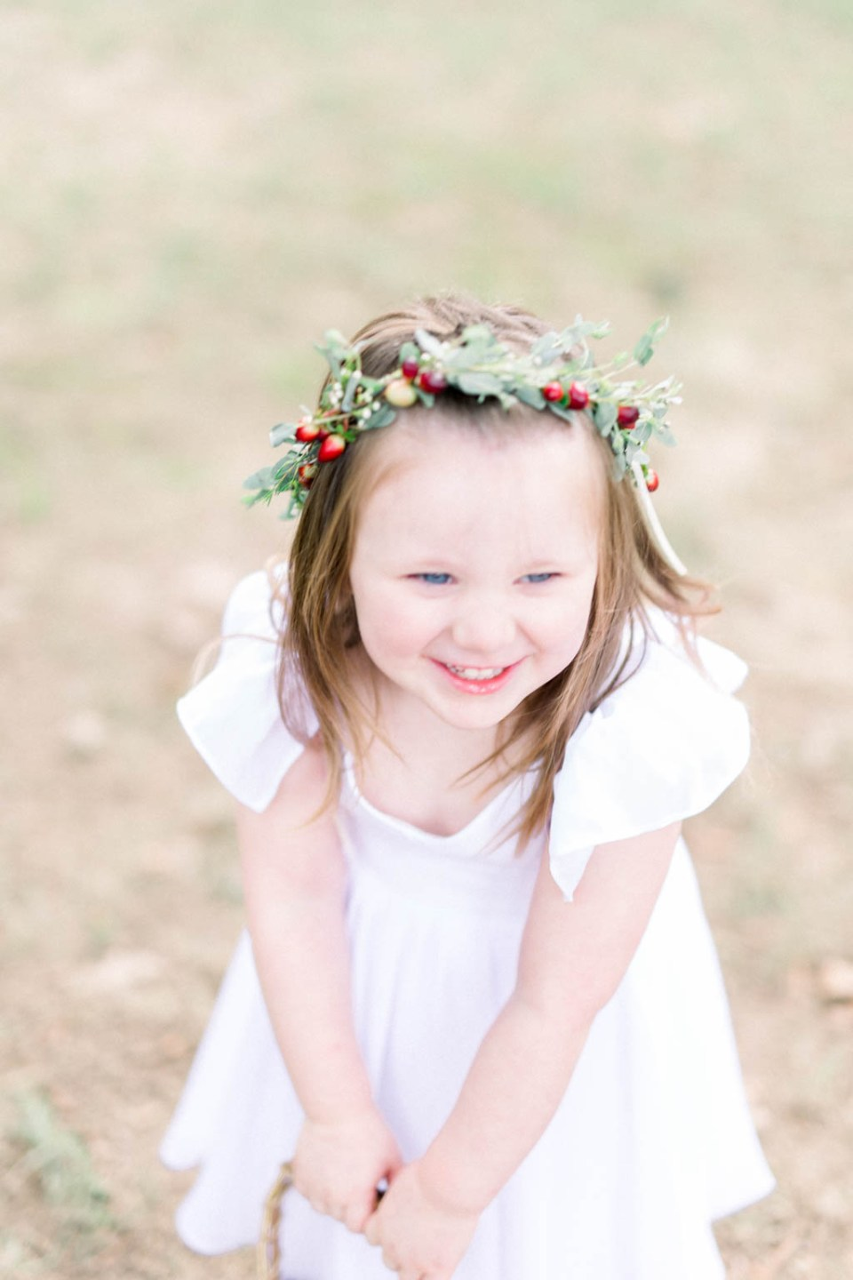 Flower girl flower crown at The Springs wedding by Adria Lea Photography