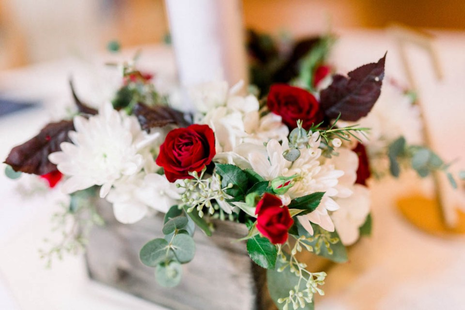 Wedding reception centerpieces by Dallas florist Wild Rose Events, photographed by Dallas wedding photographer Adria Lea Photography