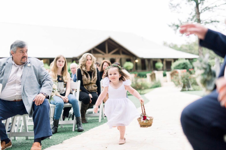 Flower girl at The Springs wedding by Adria Lea Photography
