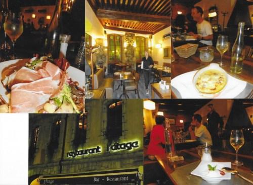 Sauvé par le gong… à « L'étage » (seul restaurant ouvert le lundi soir !)