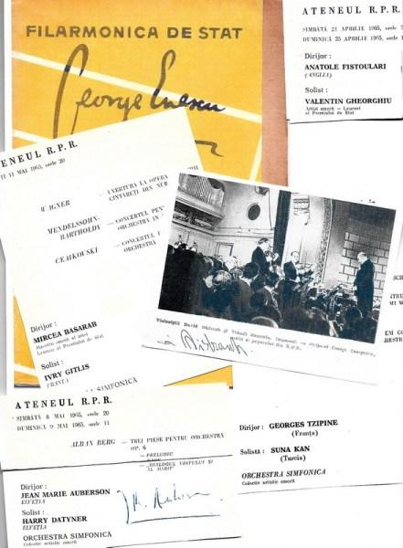 Câteva programe din anii'60, uneori cu autograful artistului