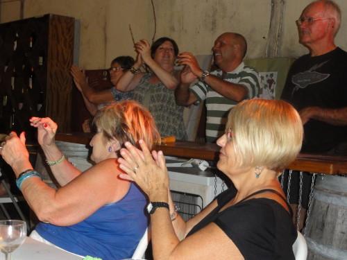 Un public între două vârste... şi mai mult spre a treia, însă foarte entuziast!