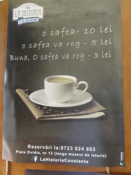 In România, cafeaua are chiar şi o funcţie educativă...cel puţin la Constanţa!