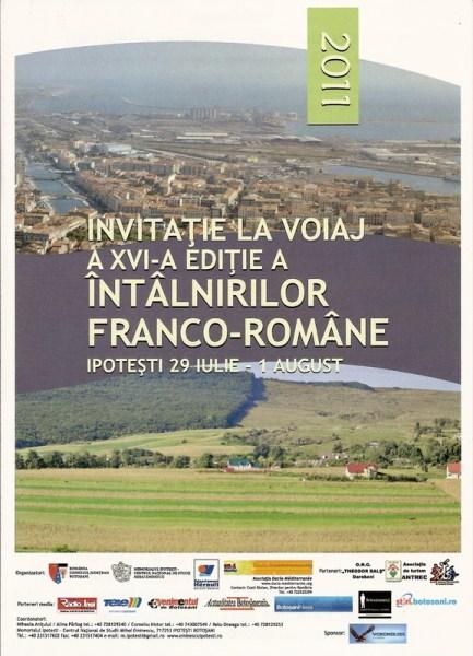 :« Invitation au voyage » : affiche des « Rencontres Franco-Roumaines » en 2011