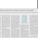 «Le Champo» à 80+…