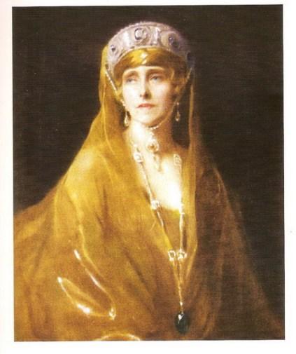 Portretul Reginei Maria (1924), de Philip de Laszlo, aflat în muzeul Sinaia