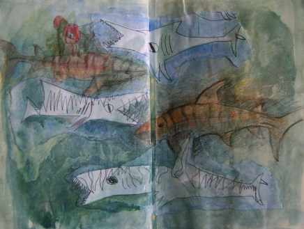 ichthyosaurs and tigersharks