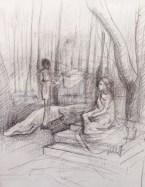 Sketchbook study, graphite on multimedia paper