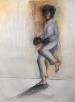 "Adriana Burgos, ""Round Kick, 21"" x 29"""