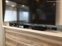 Painel da TV com nicho para equipamentos