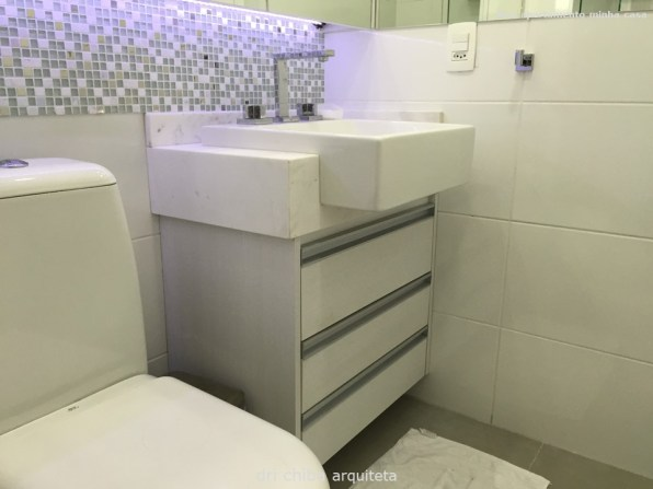 Vista do Banheiro - Gabinete