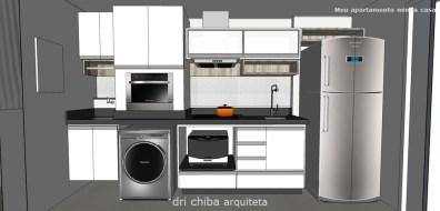 Vista da Cozinha e Equipamentos