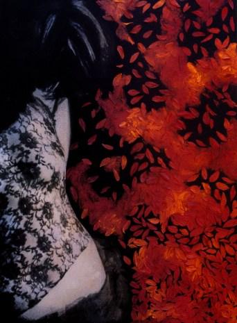 Curvas Fúteis. Pintura e colagem sobre fotografia. 2003.