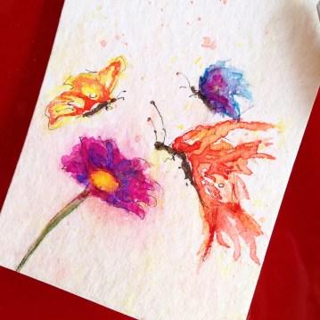 'Amor em miniatura', aquarela / Little love, watercolor painting