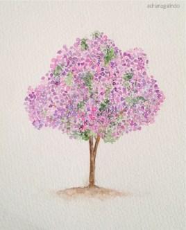 Manacá-da-Serra, tree 8, 21 x 15cm. Available