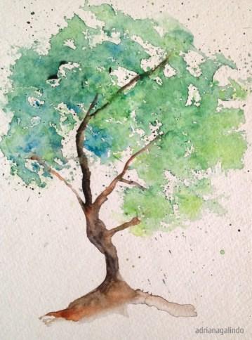 Tree 3, 21 x 15 cm. Sold