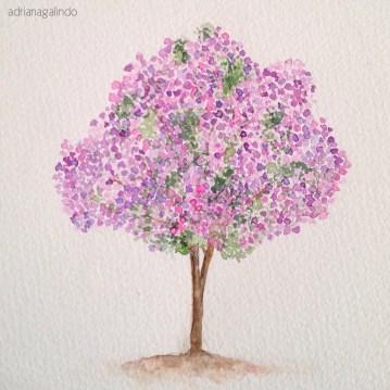 Manacá da Serra, tree 8, 21x15cm, Available