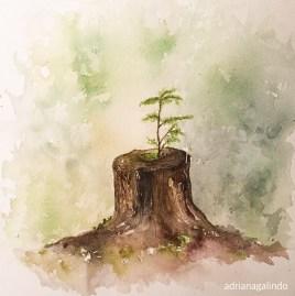 Árvore 23, tree 23, aquarela, watercolor , 30 x 21 cm. Disponível / Available