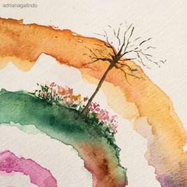 Árvore 24, tree 24, aquarela, watercolor. Disponível / Available