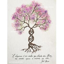 Life tree, tree 27 watercolor aquarela, 15 x 21cm . Sold