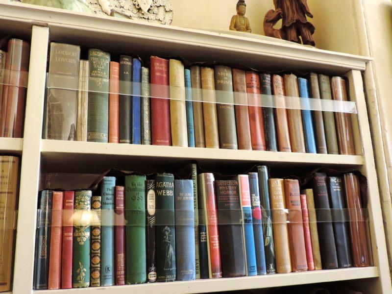 Agatha Christie bookshelf Greenway
