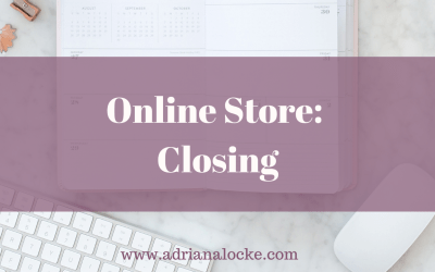 Online Store: Closing